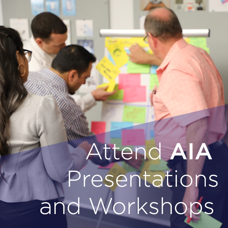 Visa Lighting specifiers attend an AIA presentation