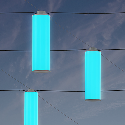Sequence catenary pendant, which will be shown at Salex Light Up Your Landscape 2018