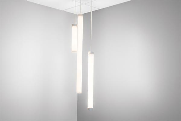 "Sequence Mini 2"" diameter luminous cylinder pendants"
