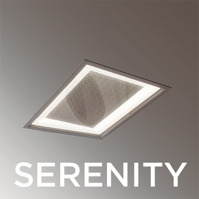 Serenity 2x2 behavioral health light fixtures will be at the 2018 HCD healthcare design conference