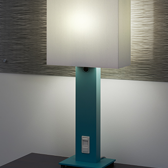Hospital patient room table lamp