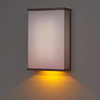 Hospital patient room lighting sconce with nightlight