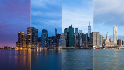 NY city skyline for the IES Light and Health event