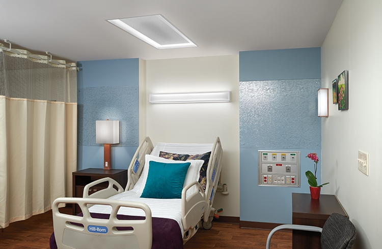 Healthcare patient overbed, headwall, and LED fixture lighting