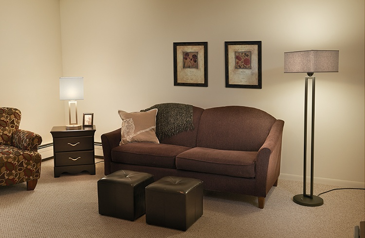 Multifamily and student housing lighting table and floor lamps