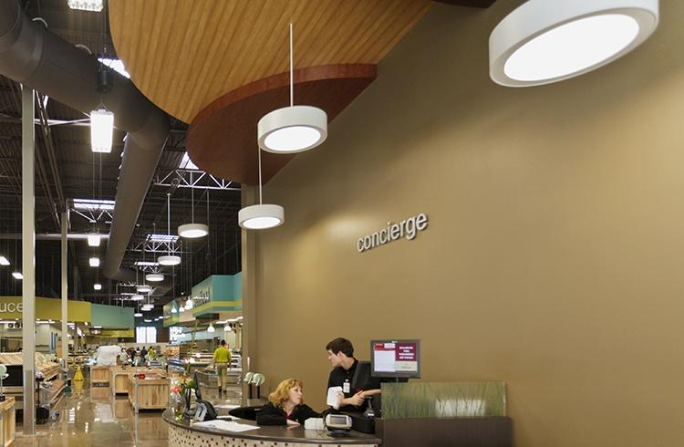 Retail grocery store lighting