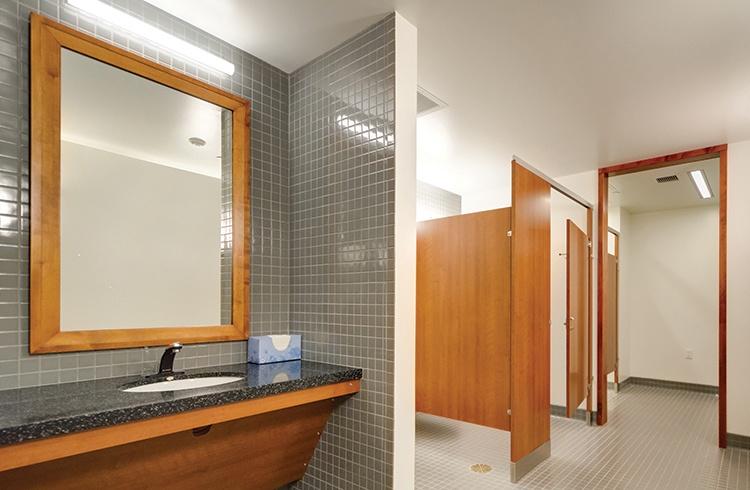 Vanity Lighting in a public restroom