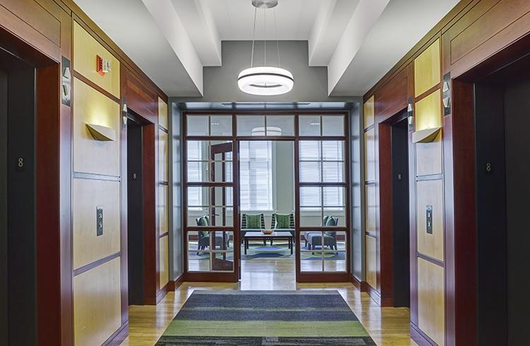 Workplace lobby modern ring pendant