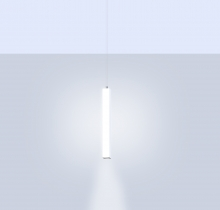 Pillar, a square luminous tube pendant