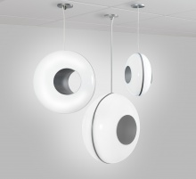 Three spherical pendants in three different sizes, big news for contemporary pendants