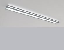 This linear luminaire provides functional downlight and ambient indirect light