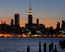 New York skyline at night, where LEDucaion 2018 will be held