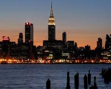 New York skyline at night, where LEDucaion 2018 will be held