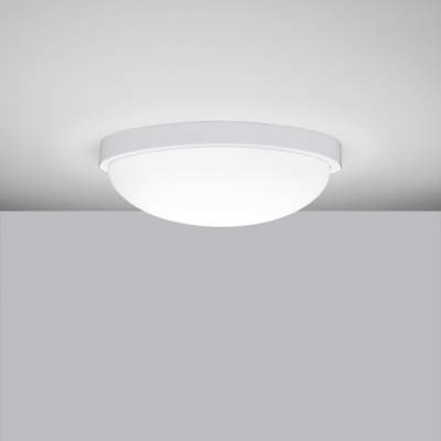 Solo Round Ceiling Light In Matte White Acrylic Dome