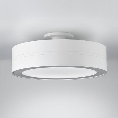Modern drum ceiling mounted light fixture