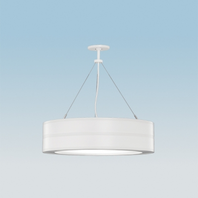 Omnience, modern drum pendant lighting, in a white finish