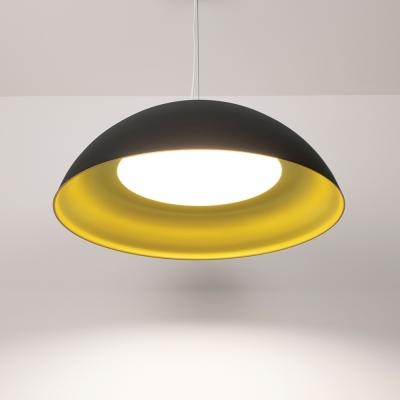 Hellen dome pendant light with Deoro Gold and Velvet Black finishes