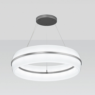 Meridian Round Pendant Light With Ring Accent Visa
