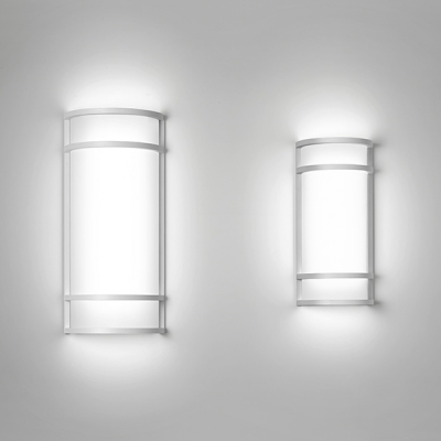 Colonnade LED sconce, Indoor Outdoor LED sconce, architectural lighting, simple led lighitng
