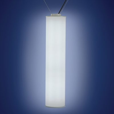 """The Sequence outdoor pendant light is offered in White LED in two lumen output levels and RGB. This fixture can be hung catenary or canopy. This is the 3' x 8"""" Catenary model."""