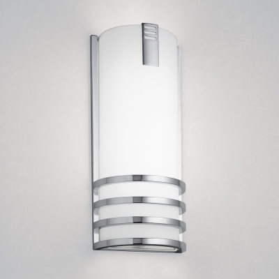 A rectangular indoor wall sconce with a medallion accent