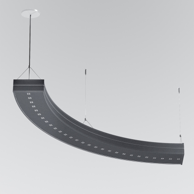 A curved indirect pendant segment