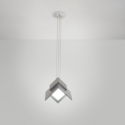 A small, angular pendant with oled panels