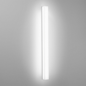 A square linear luminaire with a fully luminous diffuser on a gray background
