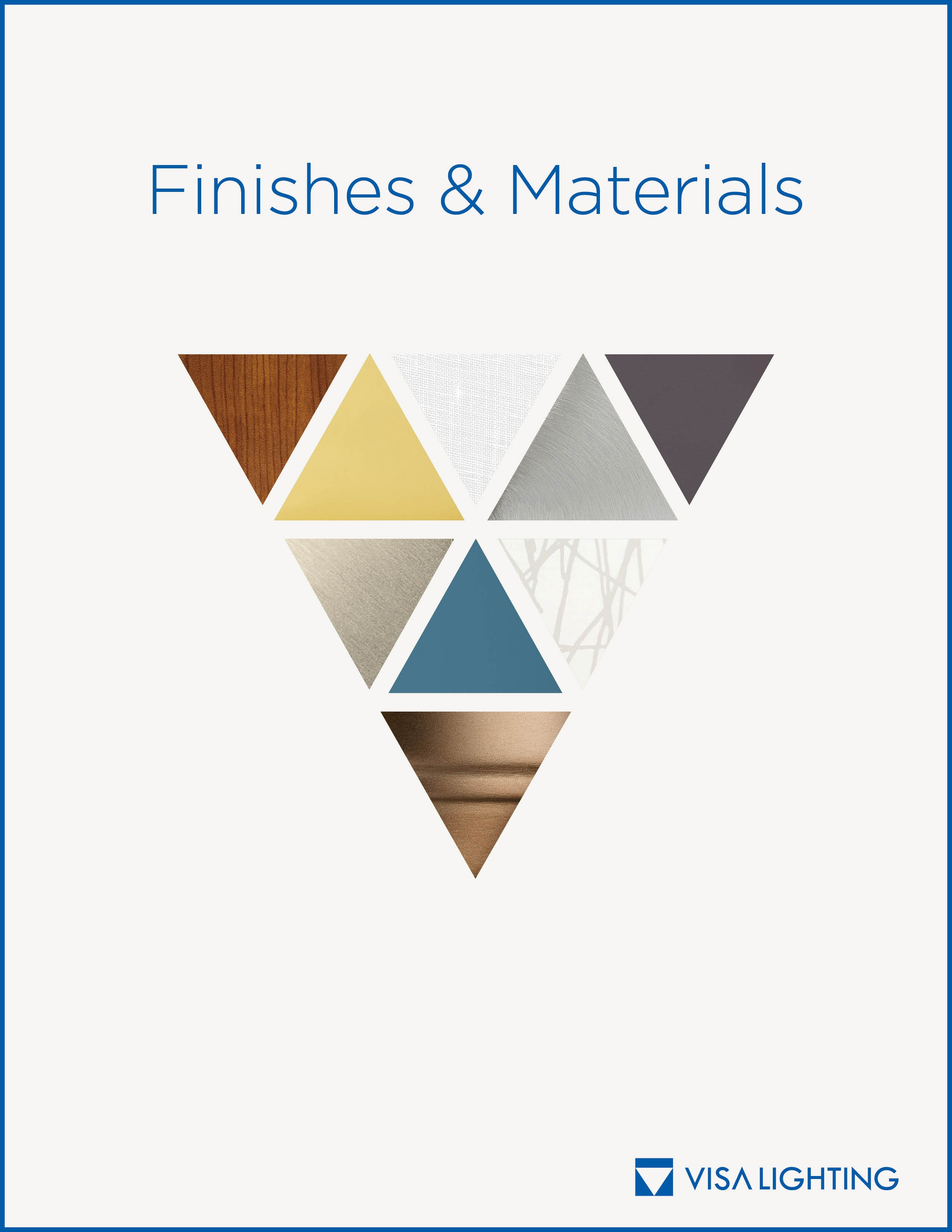 Materials and finishes brochure cover