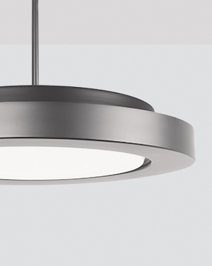 The Broadway architectural lighting fixture includes cable or stem pendants and ceiling mounted lighting fixtures to bring a modern sophistication to any space.