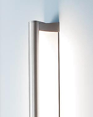 With contemporary styling and solid performance features ideal for hallway lighting, this sleek architectural lighting fixture will complement your vision or disappear into it.