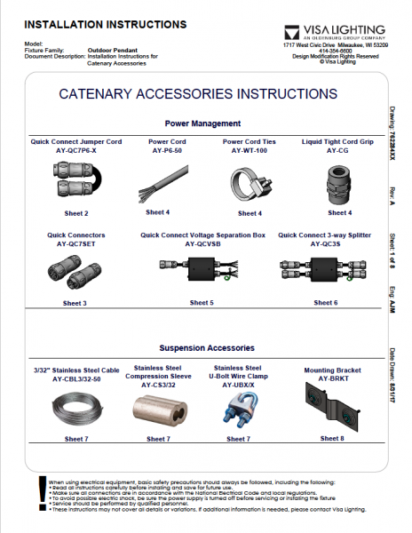Catenary Accessories Instructions