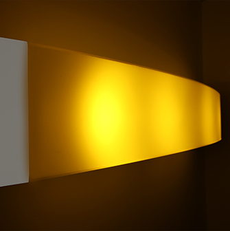 Healthcare hospital bed light with amber night light feature