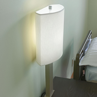 Healthcare patient room table lamp with night light