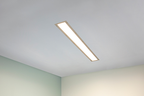 Visage linear ceiling luminaire for behavioral health