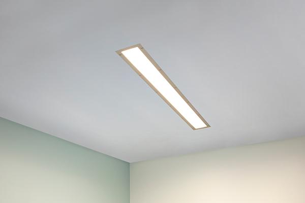 Visage behavioral health ceiling luminaire