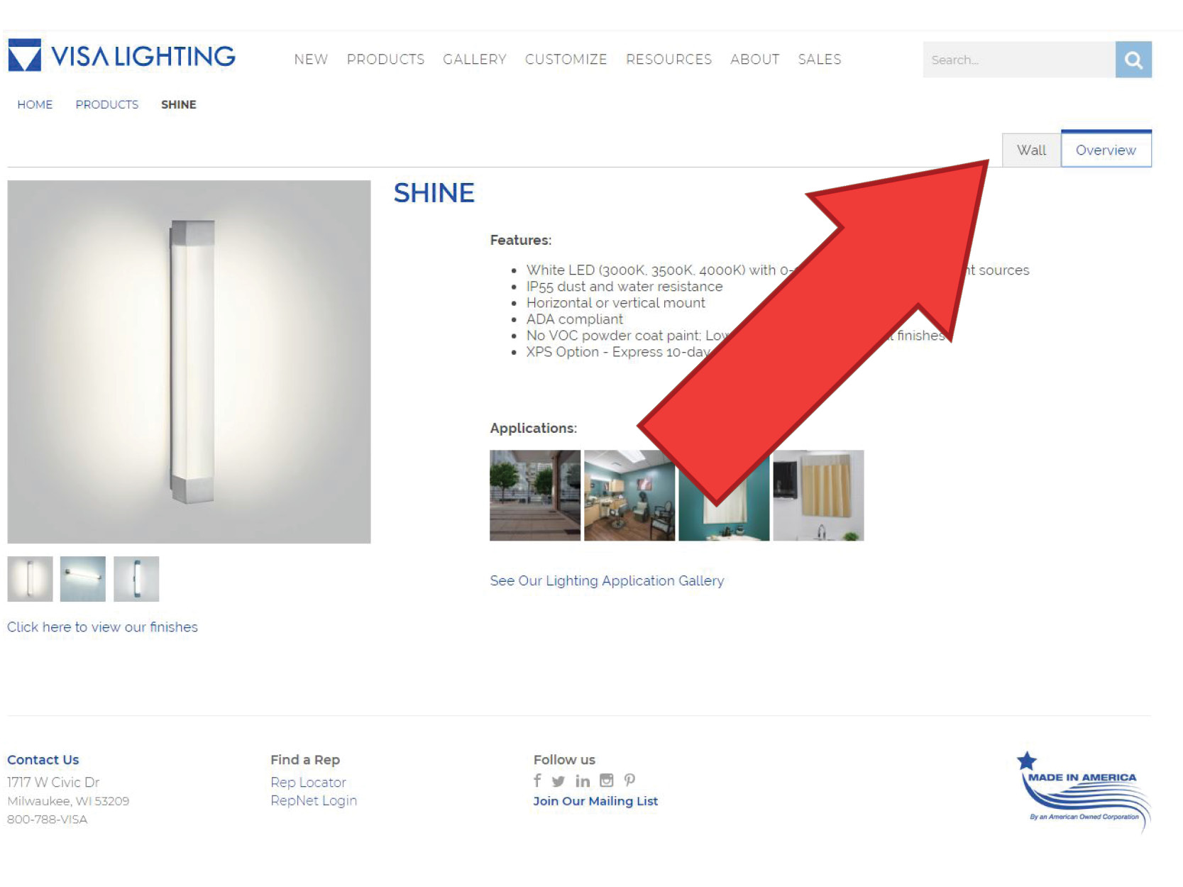 The product Shine, which has several BIM files available including Revit lighting files and Sketchup lighting files